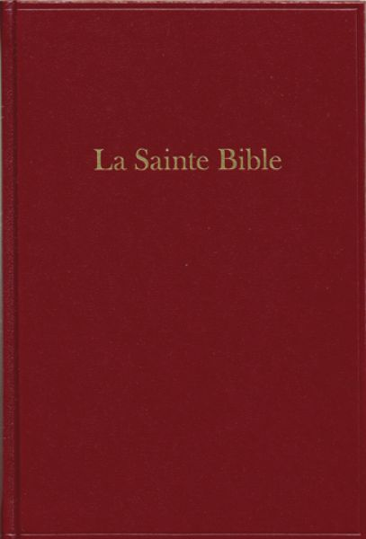 Bible format moyen, skivertex, grenat