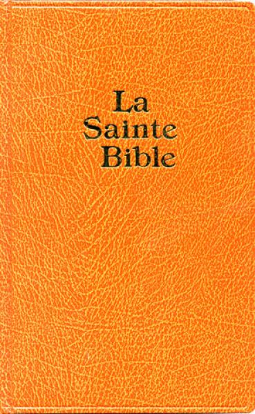 Bible de famille, grand format, skivertex, brun clair